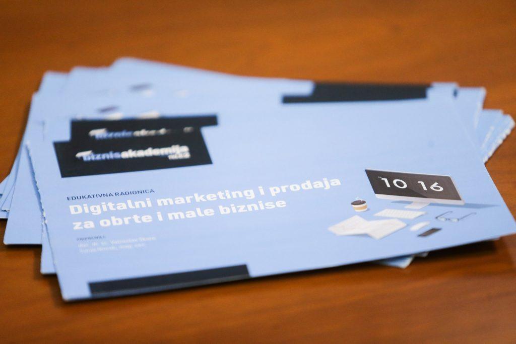 Digital marketing workshop brochure
